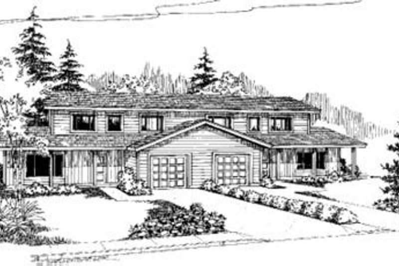 Dream House Plan - Traditional Exterior - Front Elevation Plan #60-371