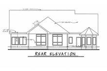 Craftsman Exterior - Rear Elevation Plan #20-2080
