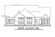 Dream House Plan - Craftsman Exterior - Rear Elevation Plan #20-2080