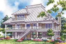 Home Plan - Country Exterior - Rear Elevation Plan #930-49