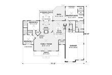 Beach Floor Plan - Main Floor Plan Plan #56-640