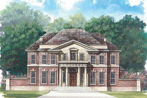 Architectural House Design - Classical Exterior - Front Elevation Plan #119-253