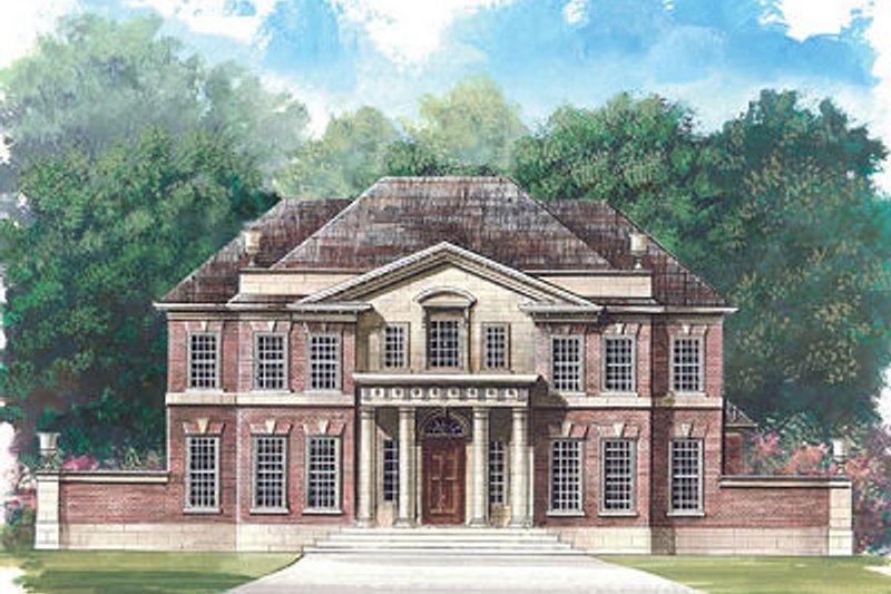 Classical Exterior - Front Elevation Plan #119-253 - Houseplans.com