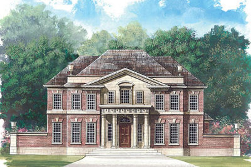 Dream House Plan - Classical Exterior - Front Elevation Plan #119-253