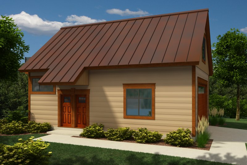 Bungalow Style House Plan - 0 Beds 1 Baths 1626 Sq/Ft Plan #118-132 Exterior - Front Elevation