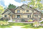 Traditional Style House Plan - 3 Beds 2.5 Baths 2263 Sq/Ft Plan #124-596 Exterior - Front Elevation