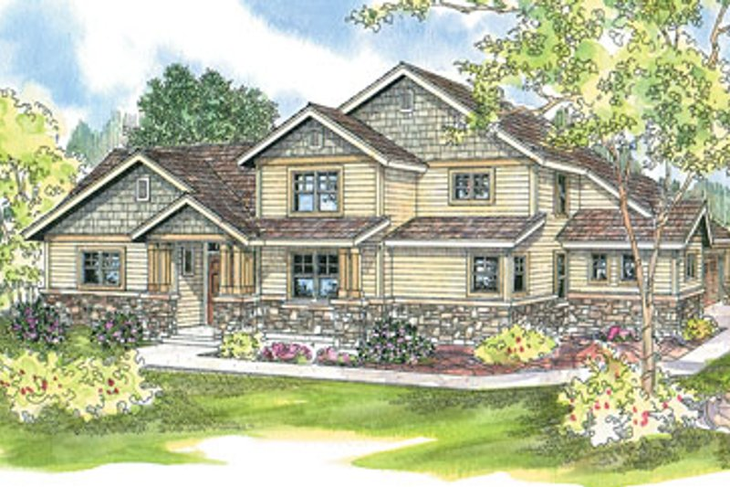 Traditional Exterior - Front Elevation Plan #124-596