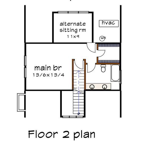 Cabin Floor Plan - Upper Floor Plan Plan #79-192