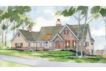 Architectural House Design - European Exterior - Front Elevation Plan #928-40