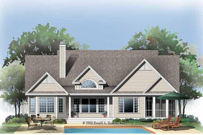 Traditional Exterior - Rear Elevation Plan #929-779 - Houseplans.com