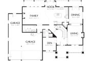 Craftsman Style House Plan - 4 Beds 4 Baths 3308 Sq/Ft Plan #48-119 Floor Plan - Main Floor