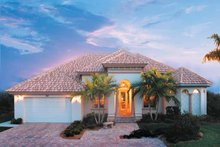 Mediterranean Exterior - Front Elevation Plan #930-318