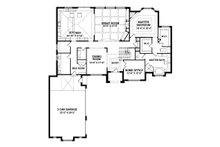 European Floor Plan - Main Floor Plan Plan #1057-3