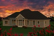 Ranch Style House Plan - 3 Beds 2 Baths 2291 Sq/Ft Plan #70-1170 Exterior - Rear Elevation