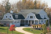Colonial Style House Plan - 5 Beds 4.5 Baths 4852 Sq/Ft Plan #928-298 Exterior - Front Elevation