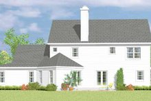 House Blueprint - Victorian Exterior - Rear Elevation Plan #72-1090