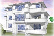 Architectural House Design - Prairie Exterior - Rear Elevation Plan #48-464