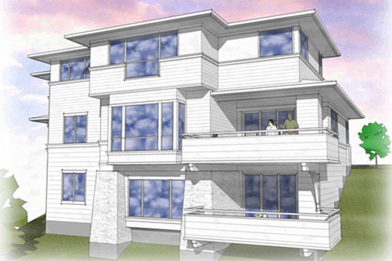 Prairie Exterior - Rear Elevation Plan #48-464 - Houseplans.com