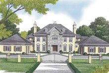 European Exterior - Front Elevation Plan #453-600