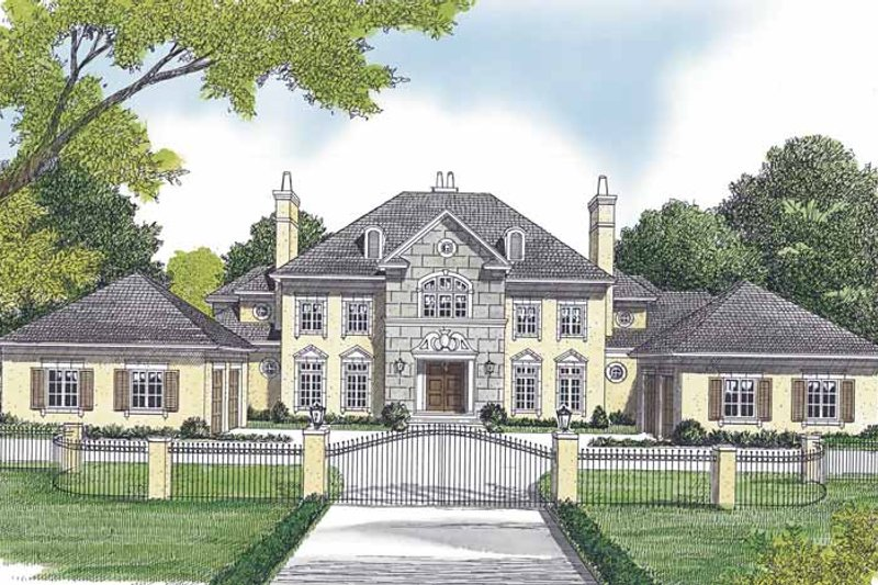 Dream House Plan - European Exterior - Front Elevation Plan #453-600