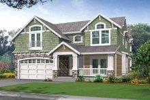 House Plan Design - Craftsman Exterior - Front Elevation Plan #132-243