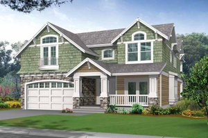 Dream House Plan - Craftsman Exterior - Front Elevation Plan #132-243
