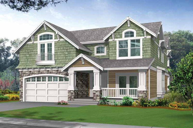 Craftsman Exterior - Front Elevation Plan #132-243