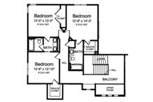 Craftsman Floor Plan - Upper Floor Plan Plan #46-859