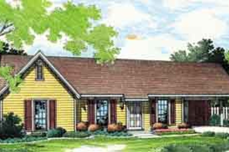 Ranch Exterior - Front Elevation Plan #45-233