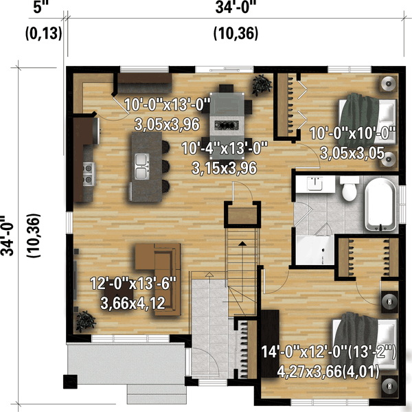 House Plan Design - Contemporary Floor Plan - Main Floor Plan #25-4919
