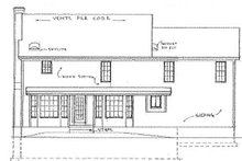 Country Exterior - Rear Elevation Plan #405-314