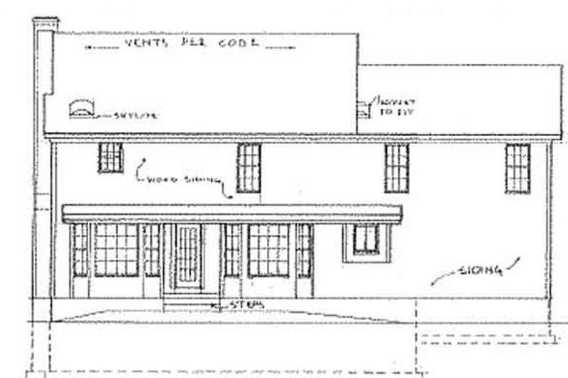 Country Exterior - Rear Elevation Plan #405-314 - Houseplans.com