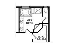 Colonial Interior - Master Bathroom Plan #1010-196