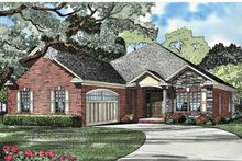 Country Exterior - Front Elevation Plan #17-3032