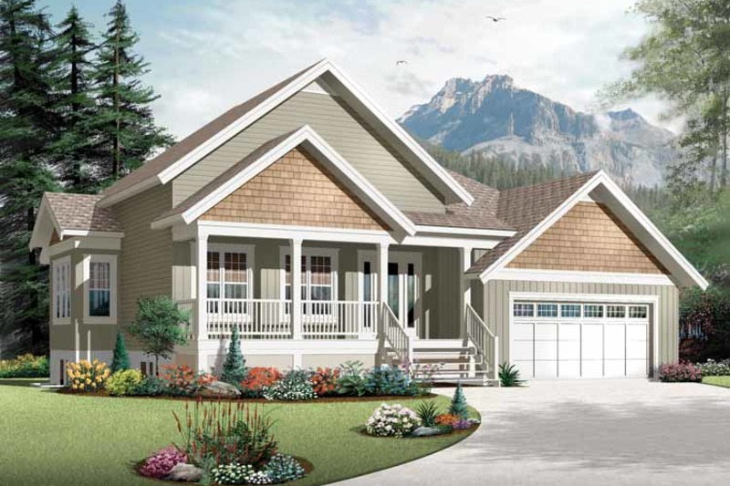 Country Exterior - Front Elevation Plan #23-2536