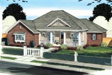 Country Exterior - Front Elevation Plan #513-2137