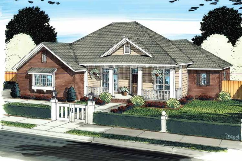 Architectural House Design - Country Exterior - Front Elevation Plan #513-2137