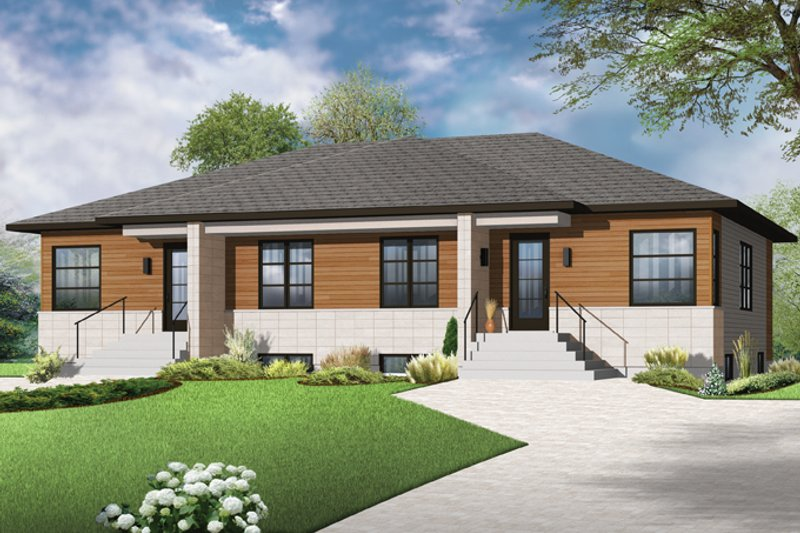 Architectural House Design - Contemporary Exterior - Front Elevation Plan #23-2593
