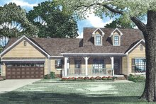 Architectural House Design - Country Exterior - Front Elevation Plan #17-2893