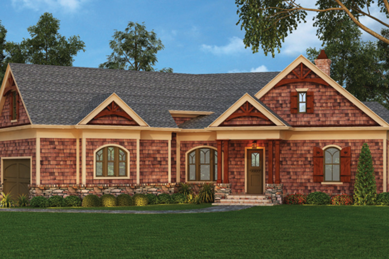Craftsman Exterior - Front Elevation Plan #119-416 - Houseplans.com