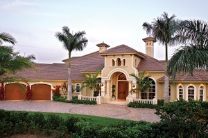 Dream House Plan - Mediterranean Exterior - Front Elevation Plan #1017-2