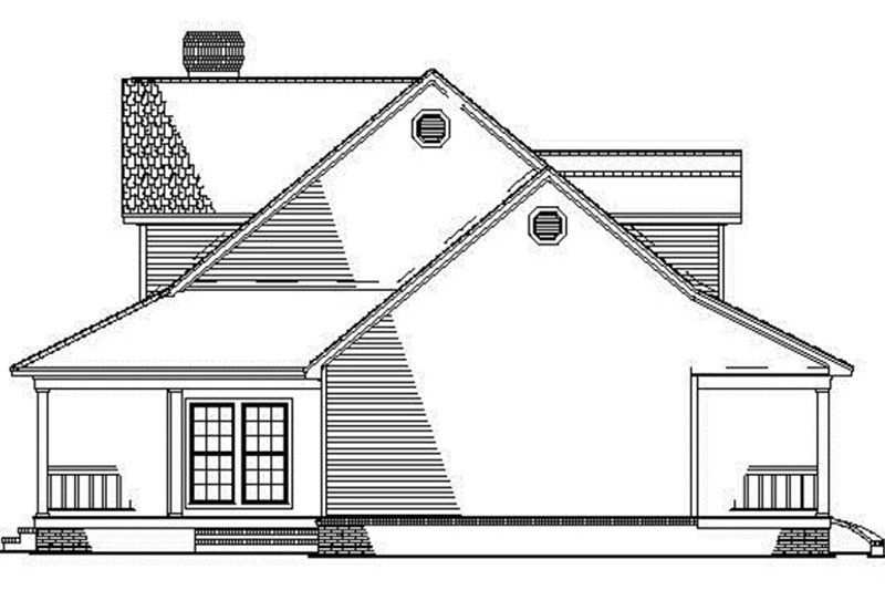 Colonial Exterior - Other Elevation Plan #17-2936 - Houseplans.com
