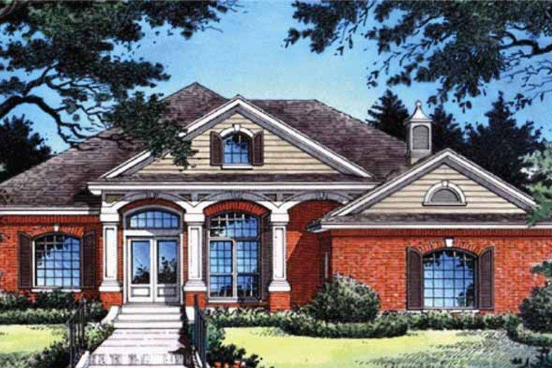 Home Plan - European Exterior - Front Elevation Plan #417-608