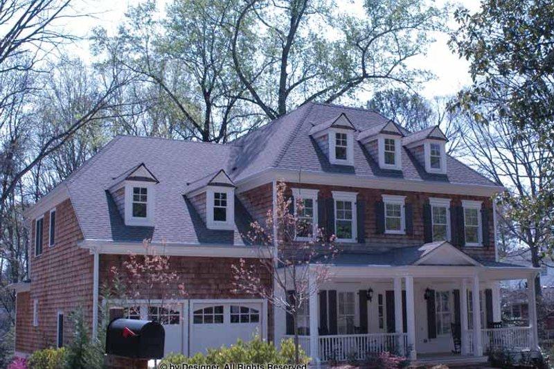 Colonial Exterior - Front Elevation Plan #54-357 - Houseplans.com