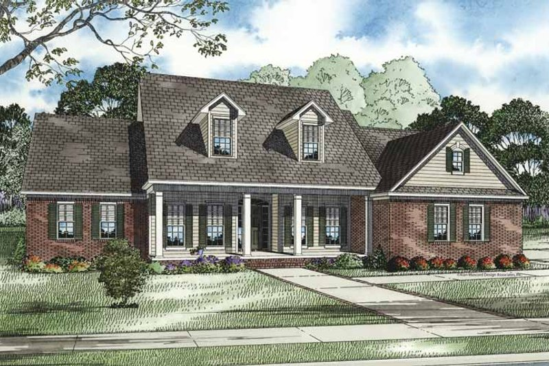 Country Exterior - Front Elevation Plan #17-2727 - Houseplans.com