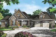 Country Exterior - Front Elevation Plan #929-993