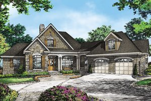 Dream House Plan - Country Exterior - Front Elevation Plan #929-993