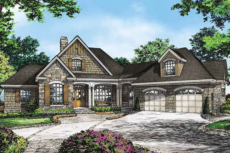 House Plan Design - Country Exterior - Front Elevation Plan #929-993