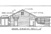 Traditional Style House Plan - 3 Beds 2 Baths 1253 Sq/Ft Plan #14-145 Exterior - Rear Elevation