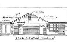 Traditional Exterior - Rear Elevation Plan #14-145